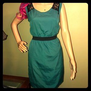 Emmelee Anthropologie Lace Back Dress Size M